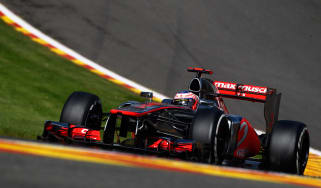 Jenson Button on pole for the Belgian Grand Prix