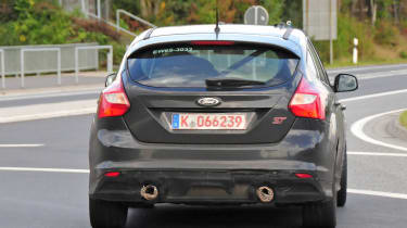 Ford Focus RS spy shot - rear view