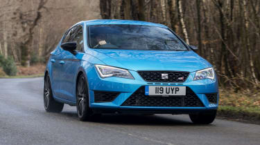 SEAT Leon Cupra 290 2016 UK - front tracking