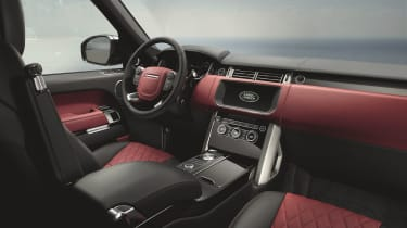 Range Rover interior - Footballers' cars