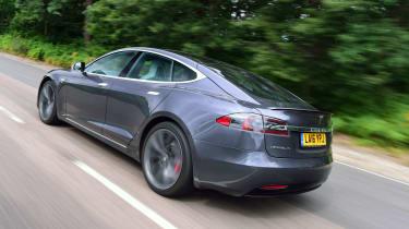 Tesla Model S 2016 facelift rear