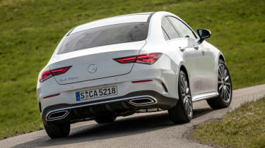 Mercedes CLA - rear cornering