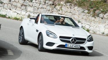 Mercedes SLC roadster 2016 - front cornering