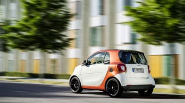 Smart ForTwo - white rear driving
