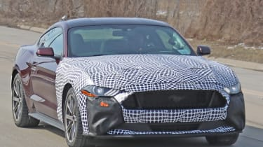 Ford Mustang hybrid spies