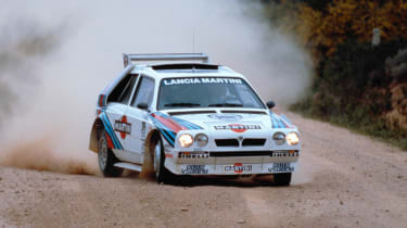 The Lancia Delta S4 is the ultimate version of the Delta, created to compete in the now-banned Group B rally championship.