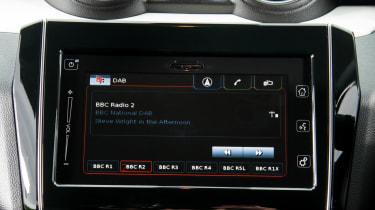 Suzuki Swift Allgrip - infotainment screen