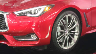 Infiniti Q60 Geneva - front three quarter crop