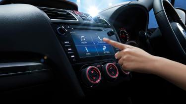 Subaru WRX STi Final Edition infotainment screen being used