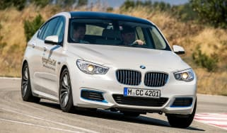 BMW 5 Series GT Hydrogen Fuel Cell - front action