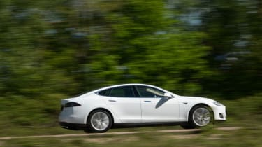 """<p class=""""p1""""><span class=""""s1"""">Model S is as refined as ever, but with motors on each axle giving 4WD, it has more grip.</span></p>"""