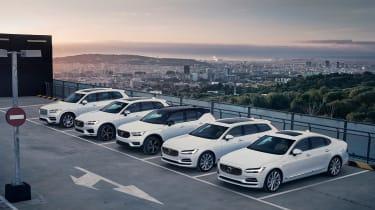 Volvo hybrid range