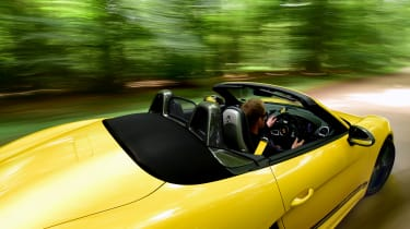Porsche Boxster T - roof down tracking
