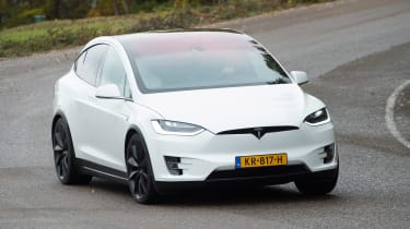 Tesla Model X - front action