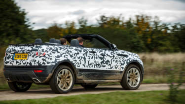 Range Rover Evoque Convertible passenger ride rear action