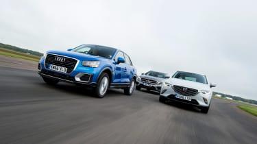 Audi Q2 vs Mazda CX-3 vs Mercedes GLA - head-to-head