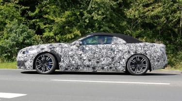 BMW M8 spy shot side profile