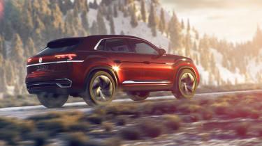 Volkswagen Atlas Cross Sport concept rear