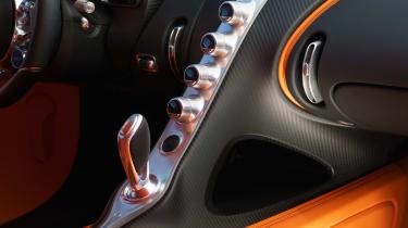 Bugatti Chiron - centre console