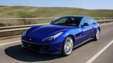 Ferrari GTC4 Lusso T 2017 - blue front tracking