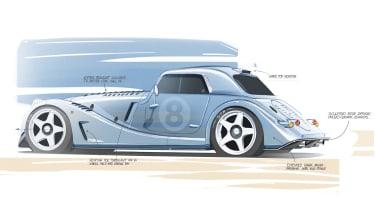 Morgan Plus 8 GTR project - rear