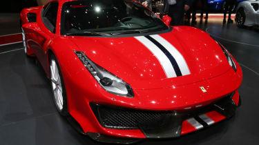 New Ferrari 488 Pista front quarter