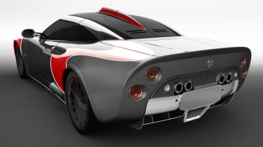 Spyker C8 Aileron - grey and red rear