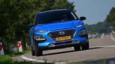 Hyundai Kona Hybrid - front cornering