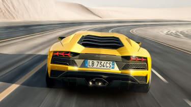Lamborghini Aventador S - rear end tracking