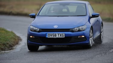 Sharp customer - Entry-level Scirocco still comes with adaptive dampers as standard. In Sport mode, the VW corners with ample grip and little body roll.