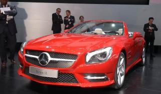 New Mercedes SL front three-quarters