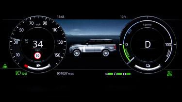 Range Rover PHEV - dials