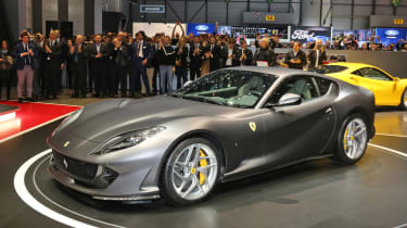 Ferrari 812 Superfast Geneva - front grey