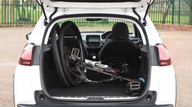 Peugeot 2008 long term - boot with bike