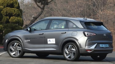 Hyundai NEXO static rear quarter