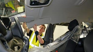 Building a police car - cabin trim