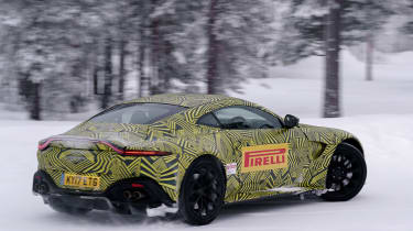Aston Martin Vantage prototype - rear tracking