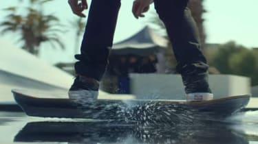 Lexus hoverboard - water shot