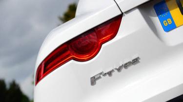 Jaguar F-Type Coupe V6 badge