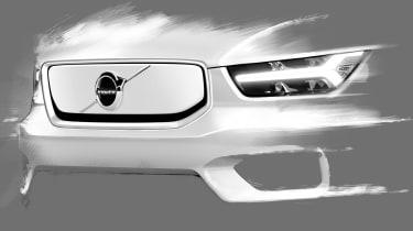 Volvo XC40 EV teaser - front