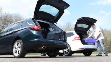 Vauxhall Astra ST vs Peugeot 308 SW - boot