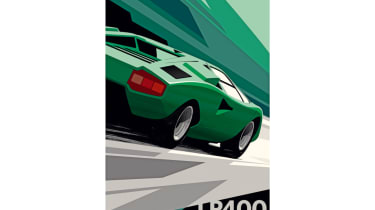 Dream Christmas gifts for petrolheads 2017 - Guy Allen Countach art