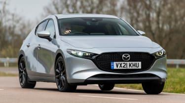 Mazda 3 e-SkyActiv X - front action