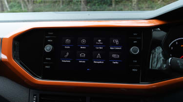Volkswagen T-Cross - infotainment menu