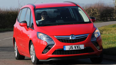 Vauxhall Zafira Tourer front cornering