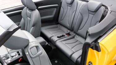 Audi S3 Cabriolet 2016 - rear seats