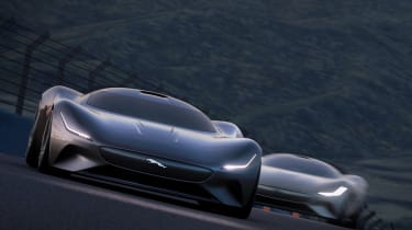 Jaguar Vision GT concept - front action