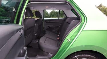 Skoda Fabia green rear seats