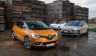 Renault Scenic vs Citroen C4 Picasso vs Ford C-MAX - head-to-head