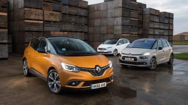 Renault Scenic vs Citroen C4 Picasso vs Ford C-MAX - head-to-head